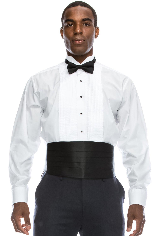 JC DISTRO Regular Fit Formal Dress Shirt 1/4 Pleated Tuxedo Shirt (XL), 17-17.5N-36/37S by JC DISTRO