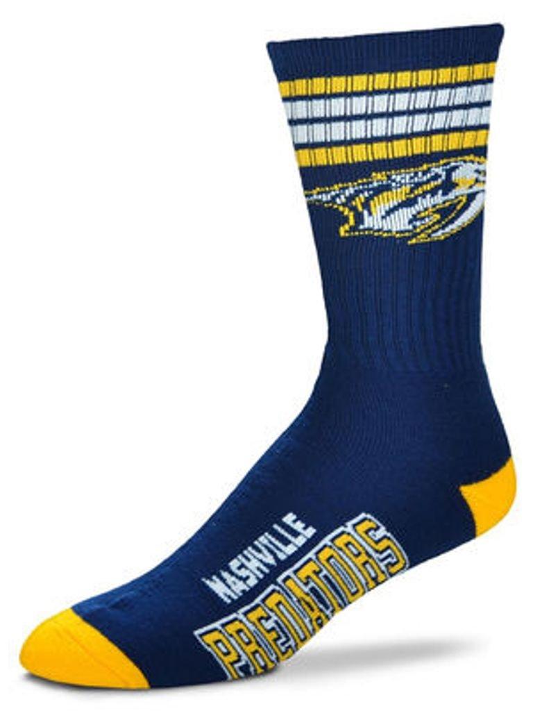 For Bare Feet NHL 4 Stripe Deuce Crew Socks