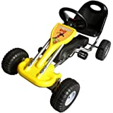 bopster Yellow Pedal Go Kart with Hand Brake and Adjustable Seat .