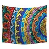 WSHINE Psychedelic Tapestry Mandala Tapestries Boho Wall Art Beach Towel Tablecloth (6)