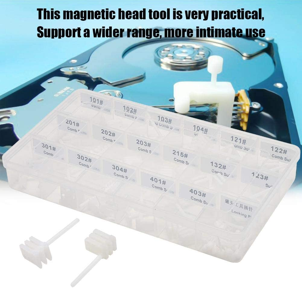 60PCS Hard Drive Repair Head Replacement Tools,Magnetic Head Change Kit for 2.5 3.5 inch Hard Drive,HDD Head Comb Tool Kit Have Good Synchronization for Data Recovery Operations for Maxtor//Samsung