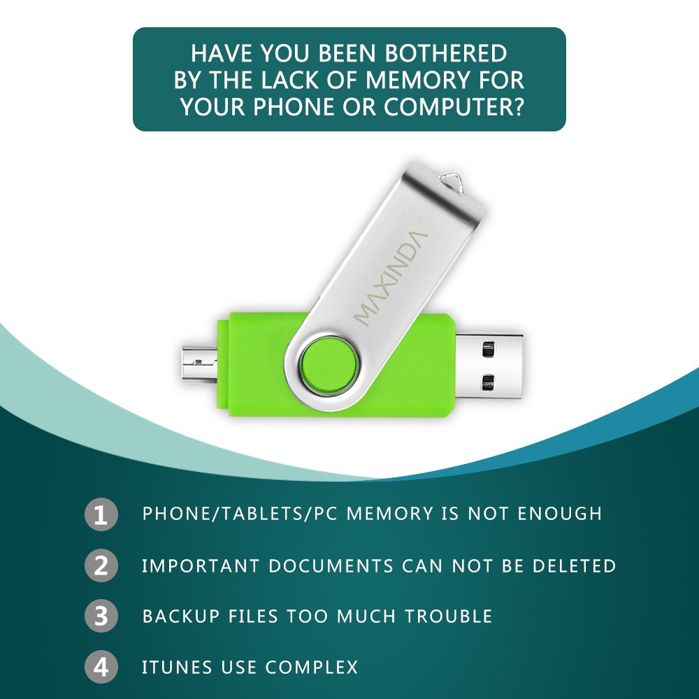 MAXINDA 8GB/16GB/32GB/64GB OTG Telefono Mobile /Tablet PC Trasformazioni Duale Micro USB / USB 2.0 Memoria Unità Flash In Movimento Disco USB (16GB)
