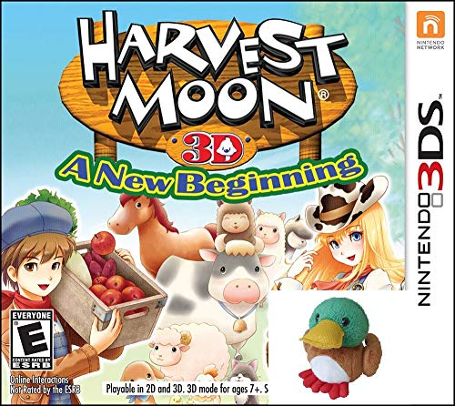 Harvest Moon a New Beginning 3DS with BONUS Plush Duck ()