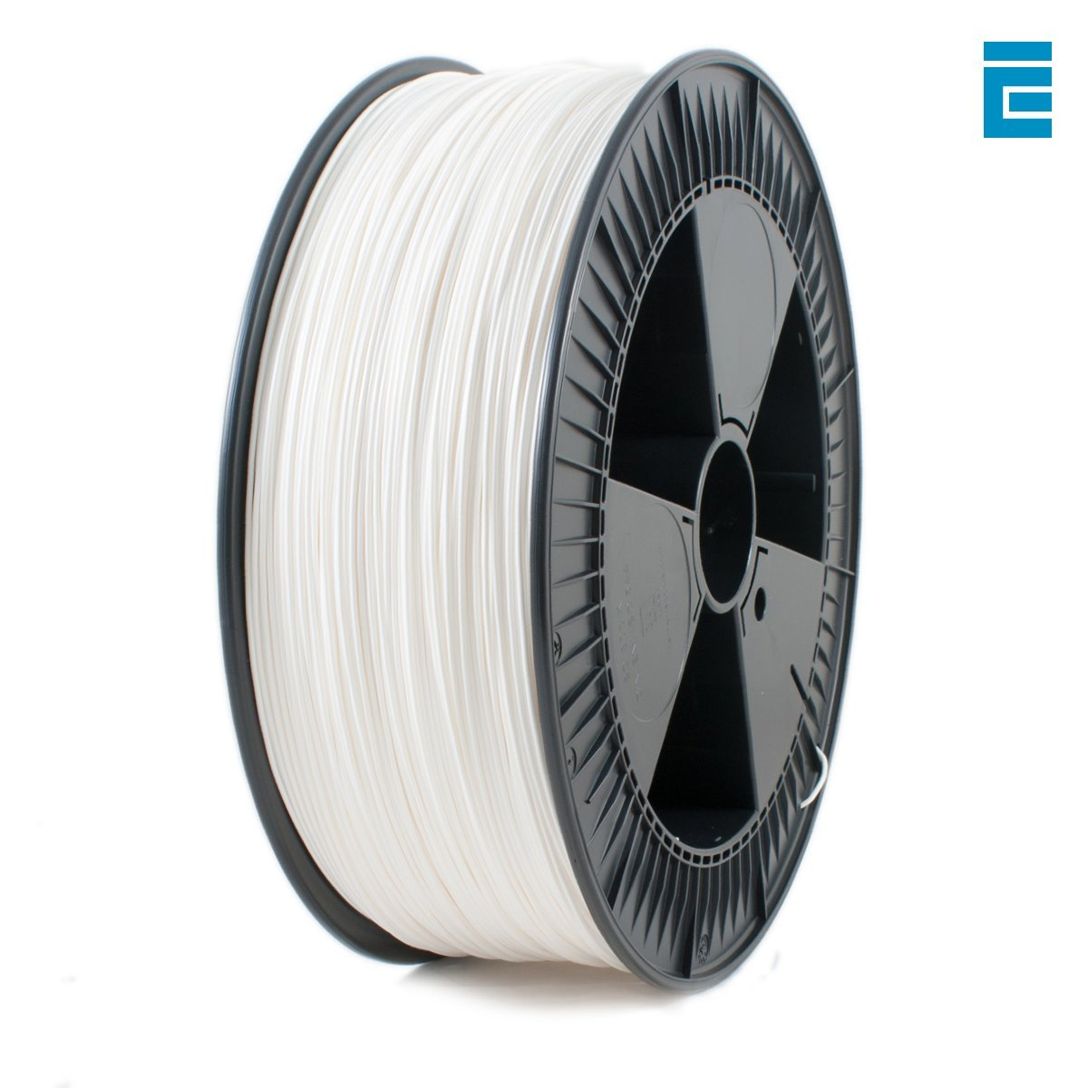 Ice Filaments ICEFIL1PLA118 Filamento PLA 1.75mm, 2.30kg, Bianco Dutch Filaments