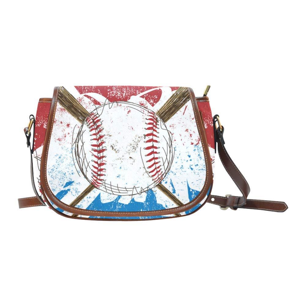 Amazon.com  Women s Crossbody Bag Baseball Flag Design Saddle Messenger Bag   Shoes db0ad7eb64
