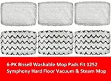 Image of 6 PACK Bissell 1252 Symphony Hard Floor Vacuum and Steam Mop Pad Kit Compatible by GENRT