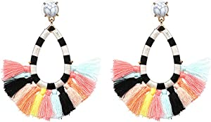 Giveaway: Women's Beaded Tassel Earrings Long Fringe Drop Bohemian...