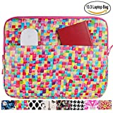 13.3 inch Laptop Sleeve Case Bag for Macbook Air 13 Pro Retina 13 Computer Bag for 13.3 Inch Tablet (Painted Square)