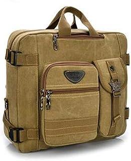 YuFLangel Leather travel bag Canvas Bag Shoulder Bag Handbag Crossbody Men Travel Business Laptop Computer Bag Canvas Schoolbag Satchel Totes Bag Handbags for Men and Women