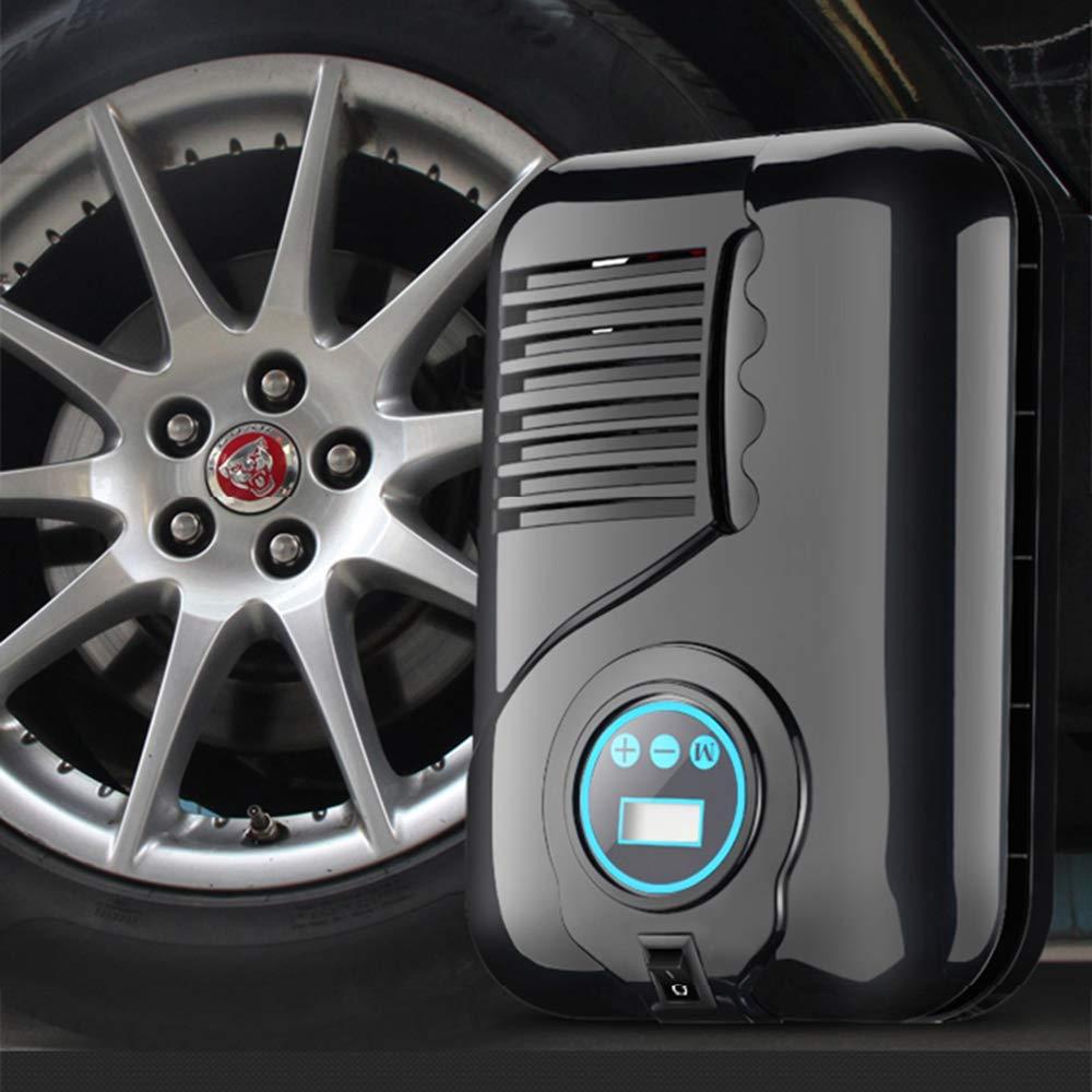 Compresor De Aire Portátil, Digital Neumáticos Inflador, Presión Preestablecida Apagado Automático, Para Bicicletas De Coches Neumáticos Bolas Natación ...