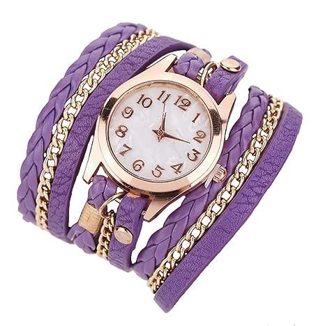 Joy Feel buy Chica Fashion Watch Faux Cuero Banda de cuarzo pulsera Relojes Chica de pulsera