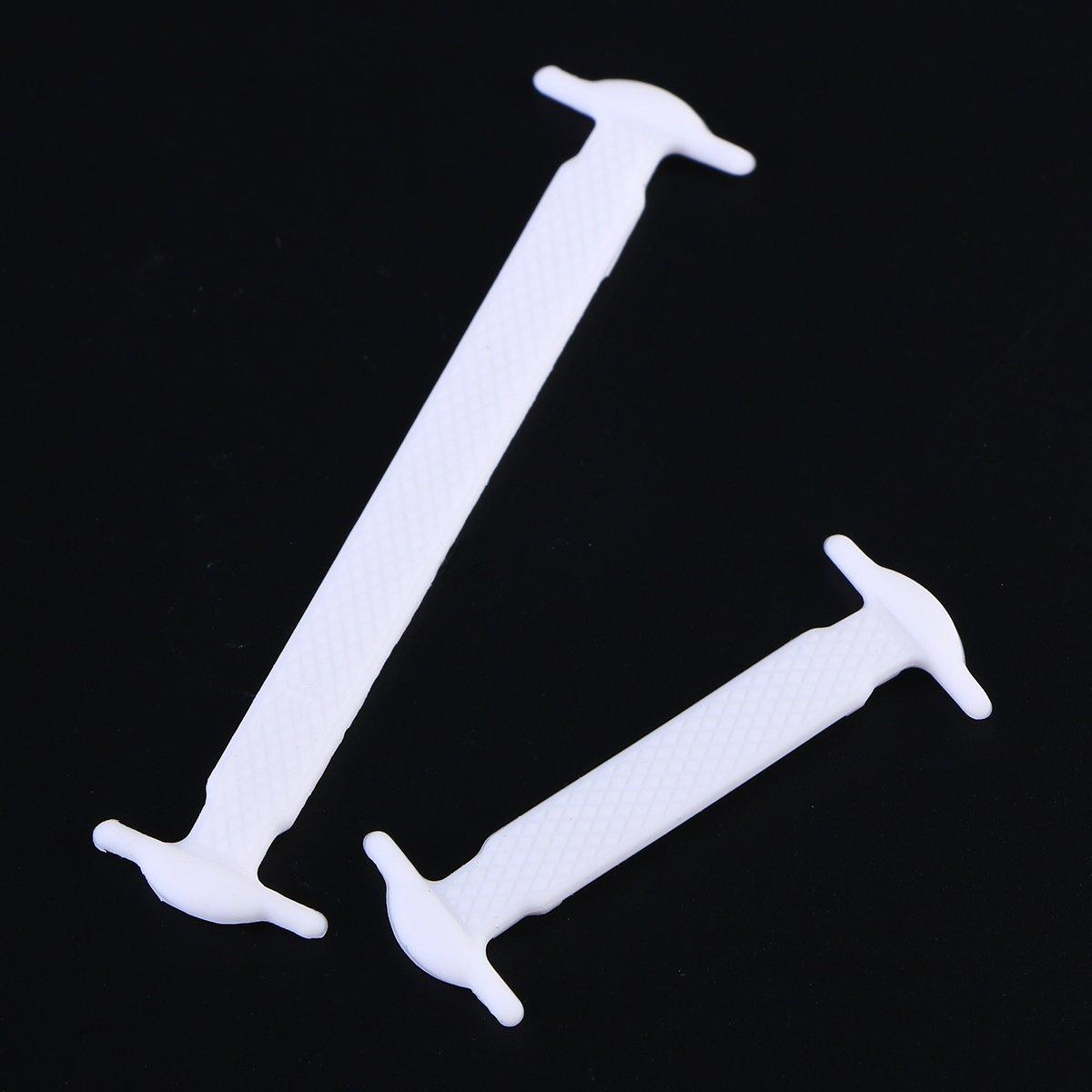 Pixnor 16/pcs sans Cravate /élastique de Lacets en Silicone/ /Blanc