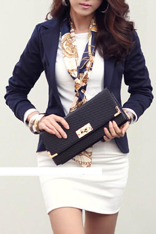 Womens OL Blazer Tops Lapel Business Outfit Slim Jackets