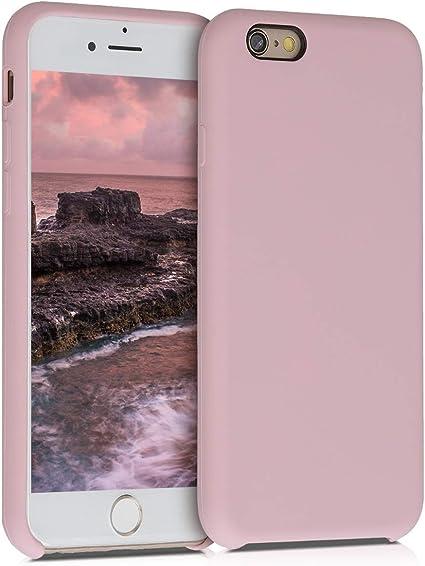 kwmobile Coque pour Apple iPhone 6 / 6S - Coque Étui Silicone - Housse de téléphone Peau de pêche