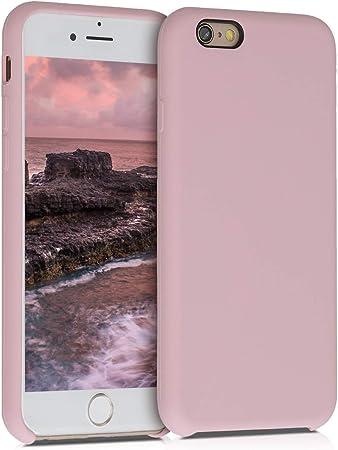 kwmobile Cover per Apple iPhone 6 / 6S - Cover Custodia in Silicone TPU - Back Case Protezione Cellulare Pesca