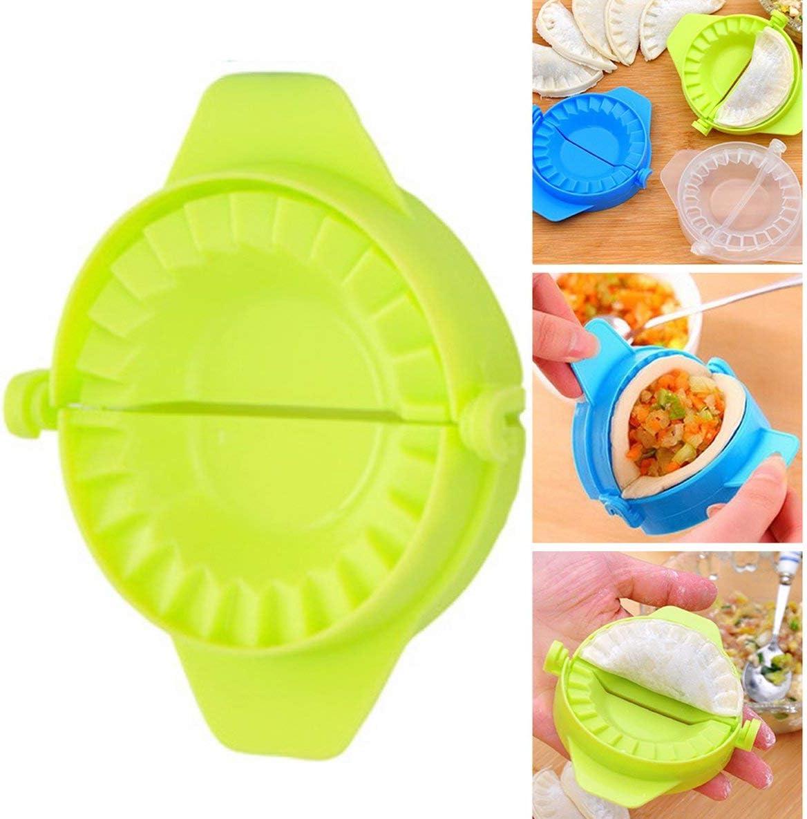 Vert Dumplings en Plastique Moule moules de boulette Manuelle Appareil Pack Dumpling Clip Machine Creative Cuisine GadgetsGreen