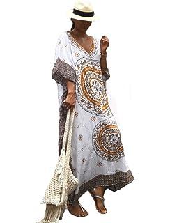 5f99642eaa1 NFASHIONSO Women Bathing Suits Cover Up Ethnic Print Kaftan Beach ...