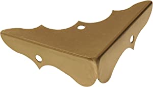 Hillman Hardware Essentials 853012 Decorative Corner Braces Bright Brass 5/8