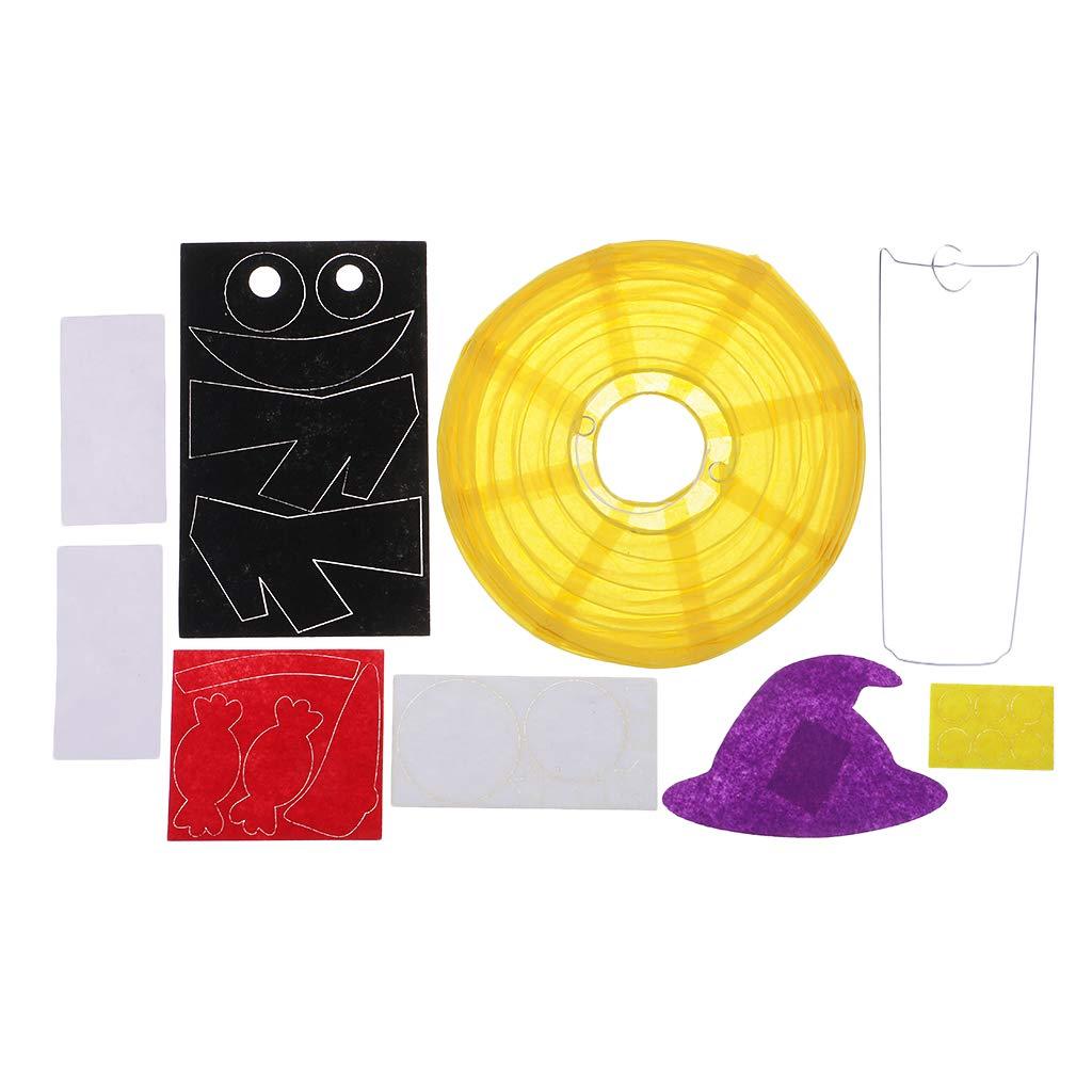 Baoblaze Carta Halloween Appeso Lanterna Fai da Te Materiale Artigianale Halloween Decorazione Puntello