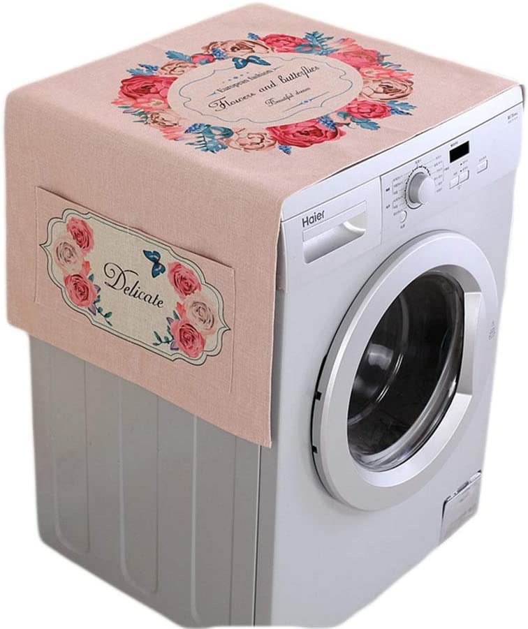Dygzh Washing Machine Cover Refrigerator Multi-Function Washing Machine Top Cover Refrigerator Dust Cover for Bathroom Kitchen Bathroom Suitable for Most top or Front Load Washer dryers