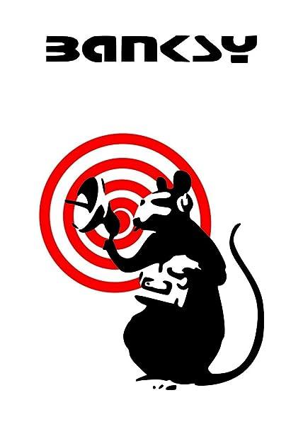 Banksy Wall Sticker Wall Decal (Surveillance Rat): Amazon co uk: DIY