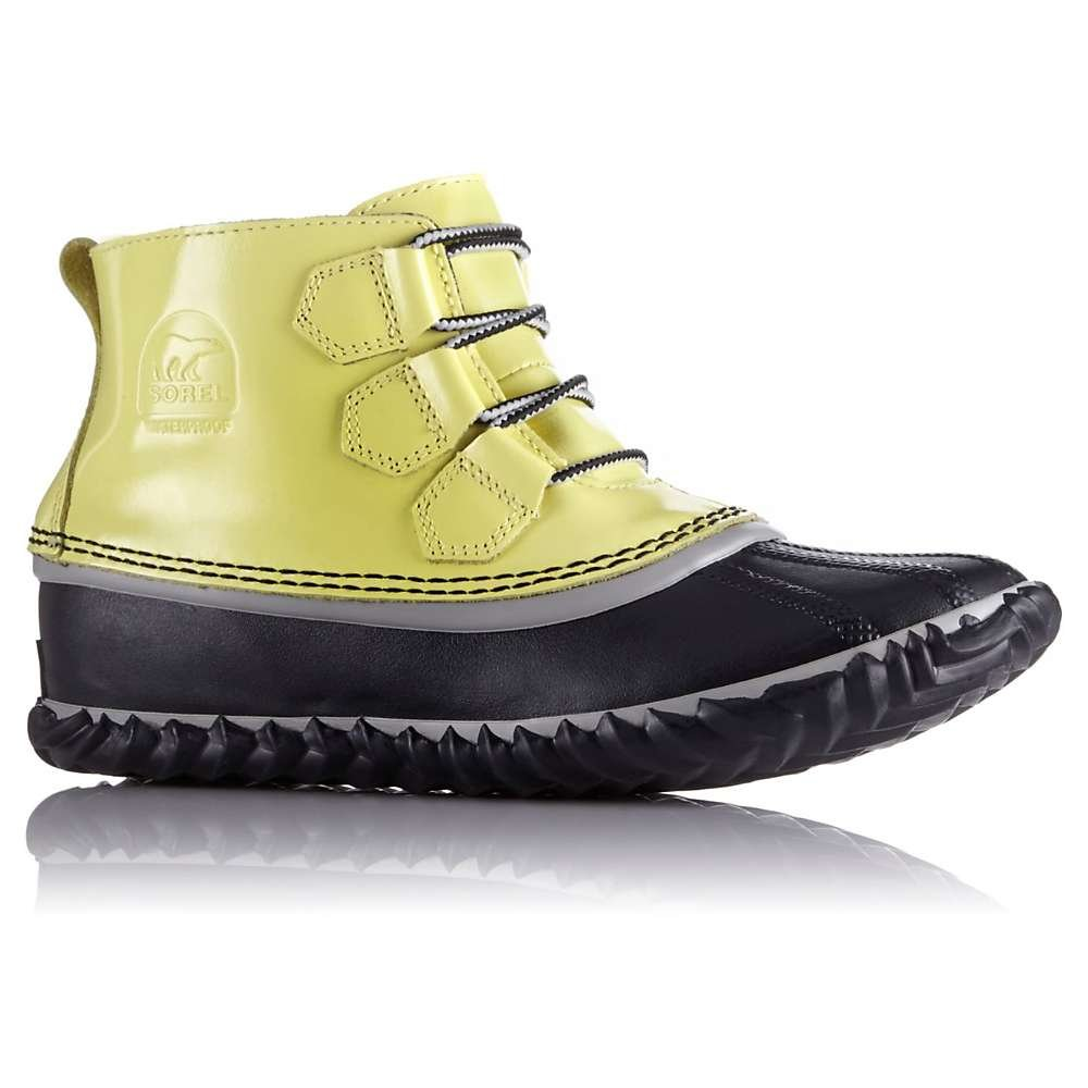 Sorel Women's Out 'n About Leather Booties, Zest/Dove, 5 B(M) US