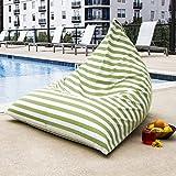 Jaxx Outdoor Bean Bag Chair, Stripes, Lime Stripes