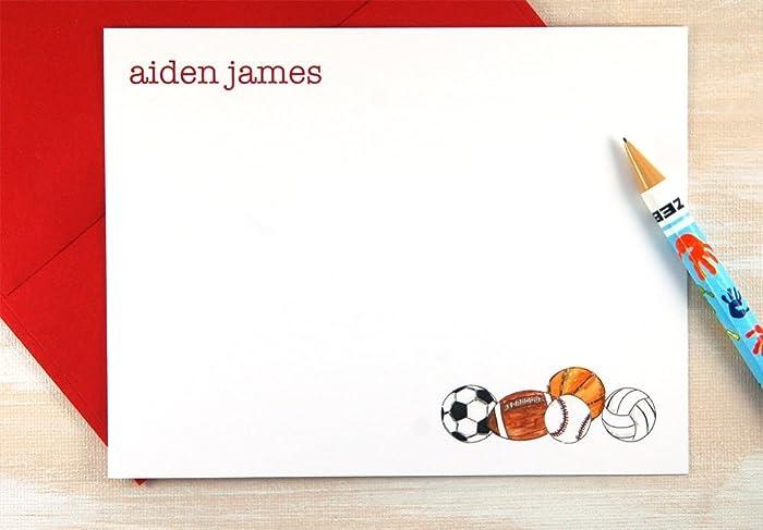amazon com personalized stationery set of 12 kids personalized