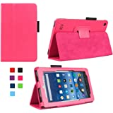 DANYCASE Amazon fire case,Standing case for kindle fire 7 Tablet (Fire 7'' Display 5th generation,2015 Release Only),Color (Hot Pink)