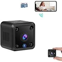 TeamMe Mini Spy Camera, WiFi Wireless Hidden Camera, HM206 1080P HD Small Home Security Camera with 32G SD Card, Night…