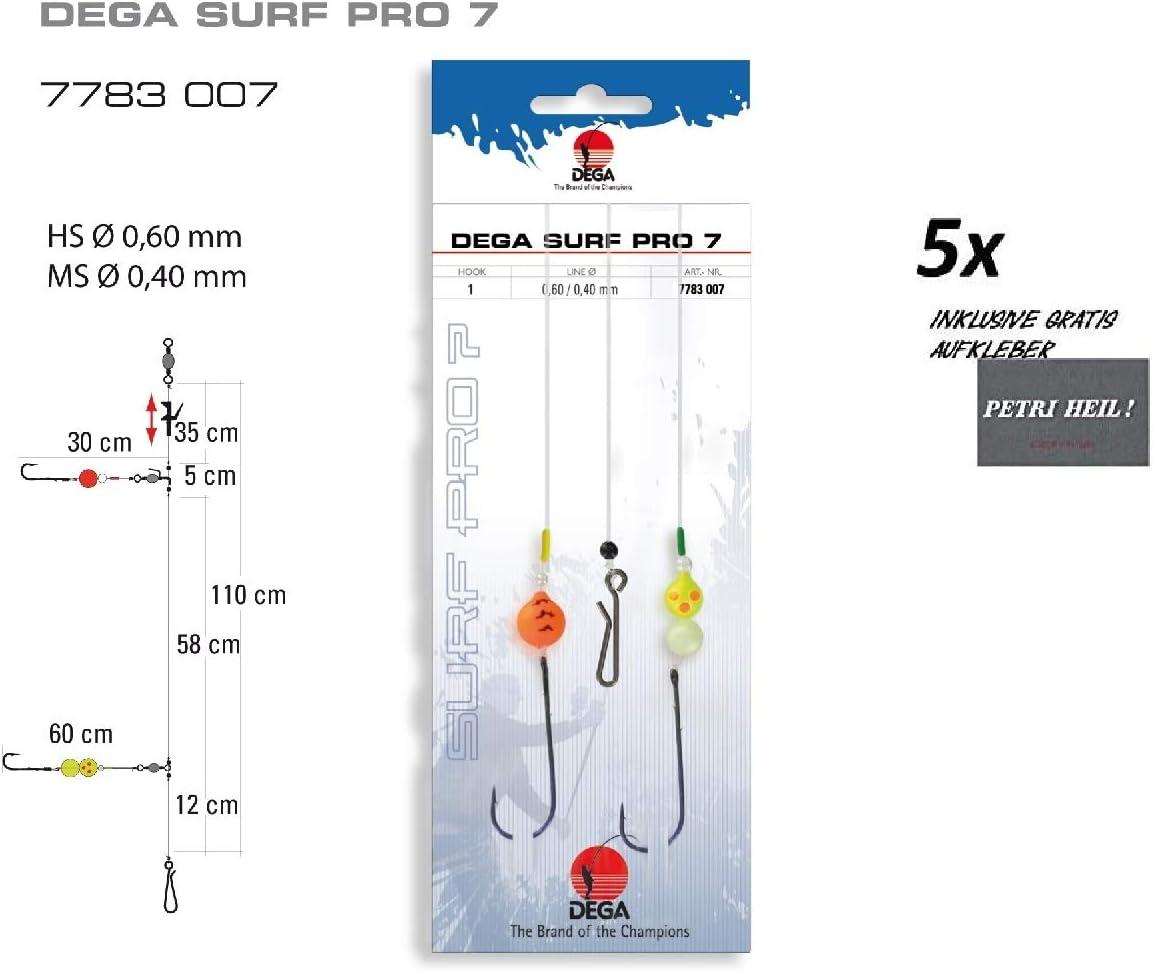 Set: 5 ST/ÜCK BRANDUNGS-System SURF-PRO Nr 7 gratis Petri HEIL Aufkleber Set