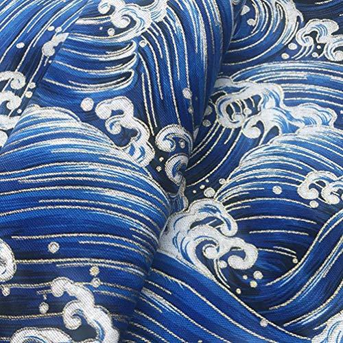 Hongma Japanese Sakura Cherry Blossoms Bronzing Fat Quarters Fabric Bundles Precut Sewing Quilting Fabric