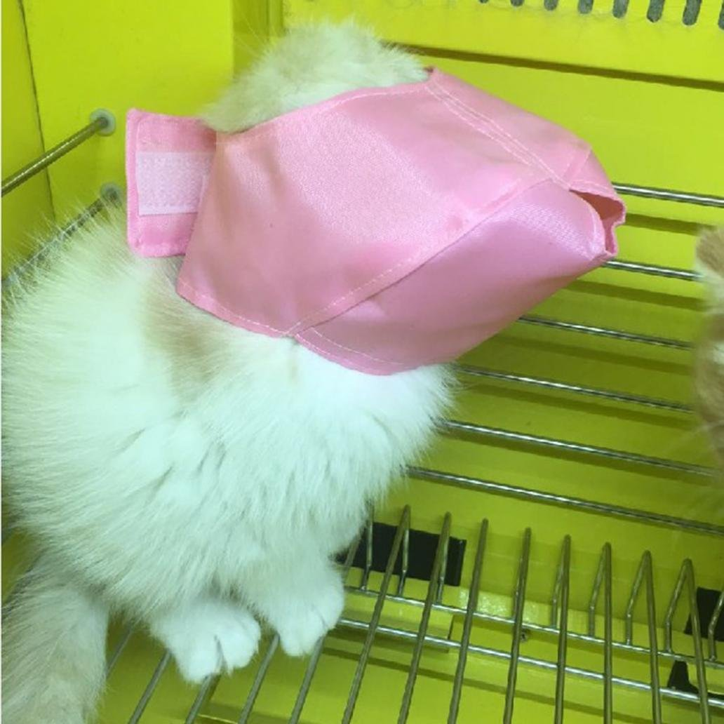 Academyus Nylon Muzzle Bath Travel Grooming Tool Light Bathing Muzzles For Cats Kitten