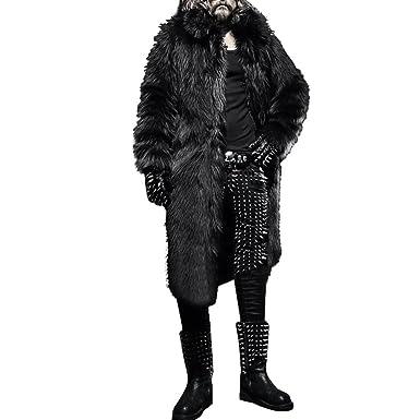 dc39222f2 TOOPOOT Men Faux Fur Parka Outwear