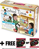 Melissa & Doug School Time Play Set +Free Scratch Art Mini-Pad Bundle (8514)