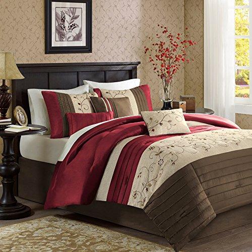 Madison Park Stylish Premium Quality Elegant Serene Red 7 Pi