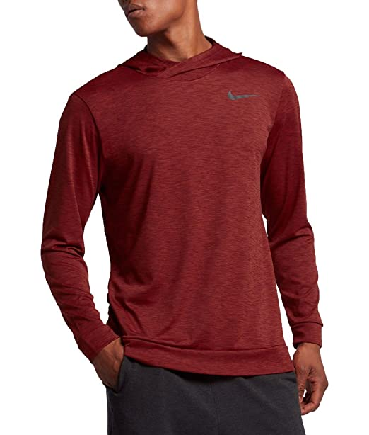 87a0e50a4 Nike Mens Breathe Hyper Dry Hoodie 832862 (Dark Cayenne/Black, Large ...