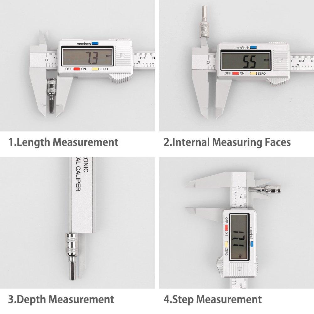 Calibre Digital de 0-150 mm DNYCF Calibres Digitales Pinza Pie de ...