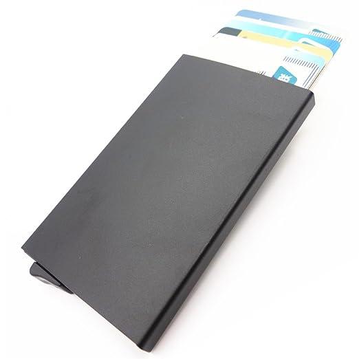 baf20b2727a54 Credit Card Holder RFID Blocking Aluminum Business Card Holder Automatic  Pop-up Card Case (
