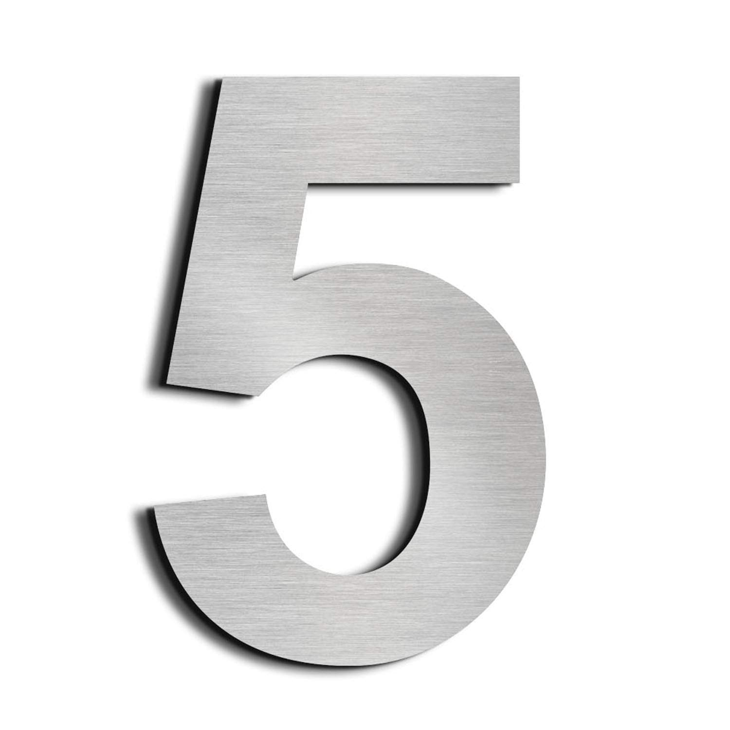 nanly House Number 1 One Made of Solid 304 Stainless Steel Floating Appearance 15.3cm 6in Easy to Install