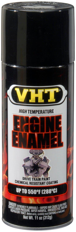 VHT (ESP124007-6 PK) Gloss Black High Temperature Engine Enamel - 11 oz. Aerosol, (Case of 6)
