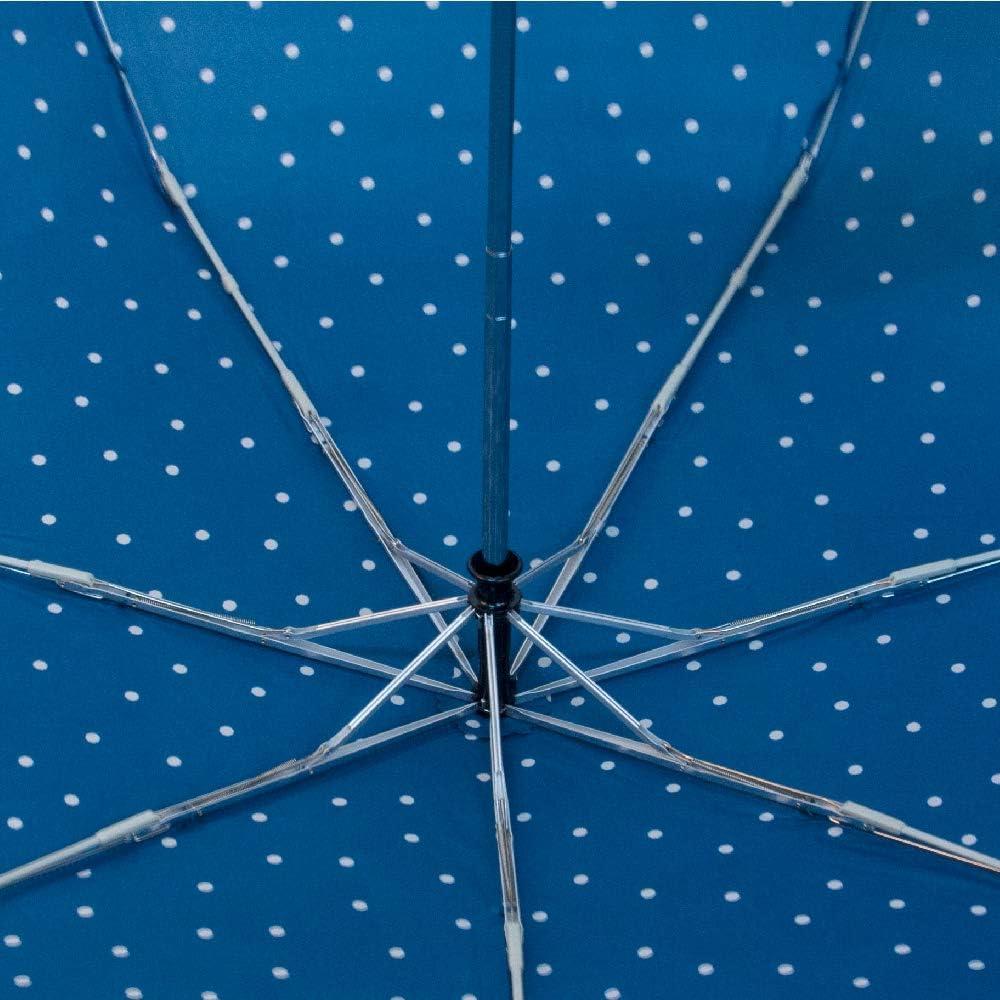 Paraguas Autom/ático Plegable Paraguas Antiviento Ideal para Viajes Hombre y Mujer Azul Bisetti