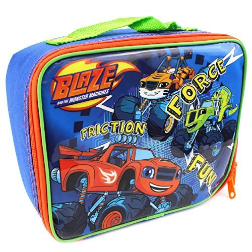 Monsters Lunch Box - Nickelodeon Blaze and the Monster Machines Soft Lunch Box (Fun Blue)
