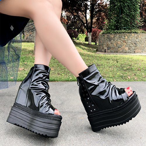 botas cm remache Black zapato 13 Martin XiaoGao Mujer AxHnqIw4