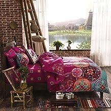 FADFAY Unique Colorful Boho Bedding Fashion Bohemian Bedding Sets Full