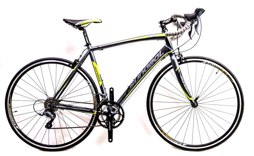 sundeal r8 50 cm 700 CアルミロードバイクShimano 2 X 9スピードグレー/グリーン新しい B0793CXWN4