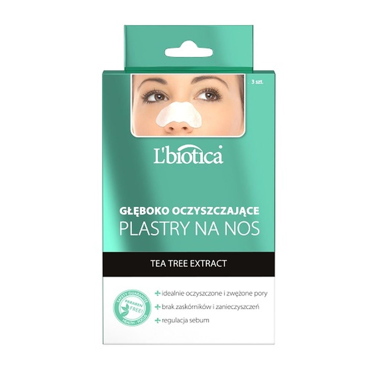 L'Biotica Nasal Stripes Deep Purrifing with Tea Tree Extract Nose Patches 3pcs L'biotica