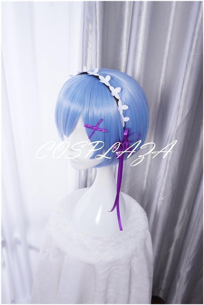 coloris bleu r/éf/érence zero kara Hajimeru Isekai Seikatsu RAM REM perruque anim/ée courte Perruque cosplay Cosplaza