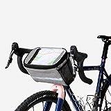 Sahoo Bolsa de manillar Bolsa Delantera de Bicicleta poliéster resistente a los rasgaduras Bolsa de bicicleta