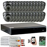 GW 5-In-1 1080P 32 Channel DVR 2MP 4X Optical Zoom Security Camera System with (24) x True HD 1080P Waterproof Auto-Focus 4X Motorized Zoom Varifocal 25°-100° Dome Camera
